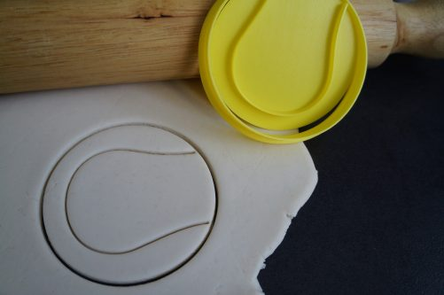 tennis ball cookie cutter fondant embosser