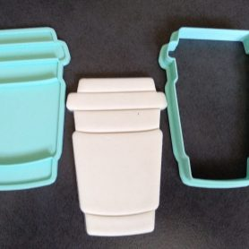 Takeaway Coffee Cup Cookie Fondant Embosser and Cookie Cutter