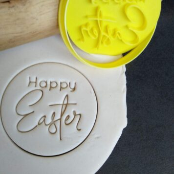 Happy Easter Cookie Fondant Stamp Embosser and Cutter