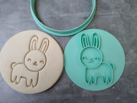 Cute Easter Bunny Cookie Fondant Stamp Embosser and Cutter