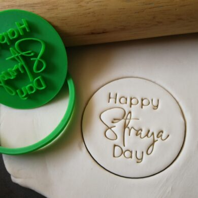 Happy Straya Day - Happy Australia Day Cookie Fondant Stamp Embosser and Cutter
