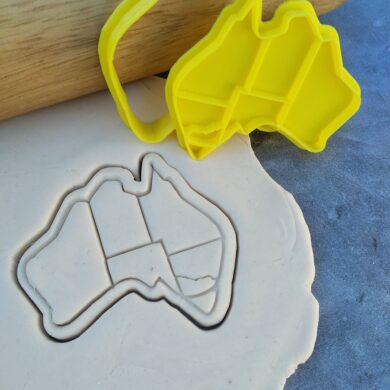 Australian Map Cookie Fondant Embosser Stamp & Cutter