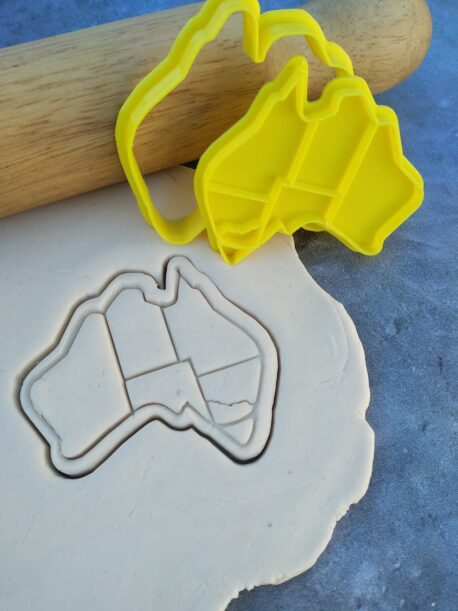 Australian Map Cookie Fondant Embosser Stamp & Cutter