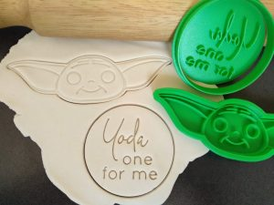 The Child / Baby Yoda Cookie Fondant Stamp Embosser and Cutter - Valentines Day