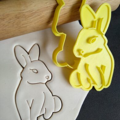 Easter Bunny Cookie Fondant Stamp Embosser and Cutter