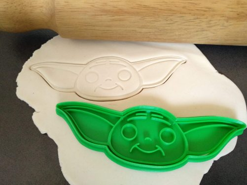 baby yoda Cookie Fondant Stamp Embosser and Cutter