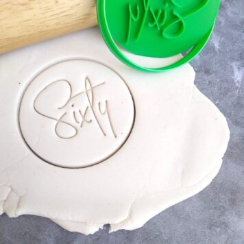 Sixty 60th Birthday Cookie Fondant Stamp & Cutter