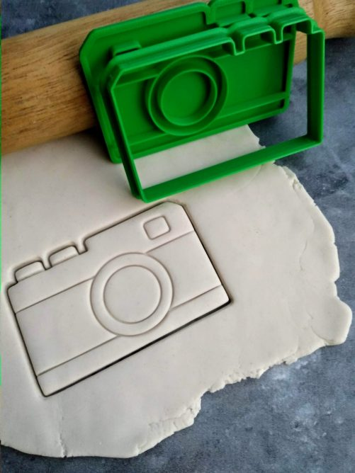 Camera / Retro Photography Cookie Fondant Embosser Stamp & Cutter