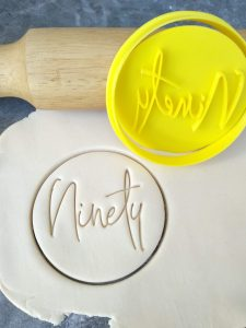 Ninety 90th Birthday Cookie Fondant Stamp & Cutter