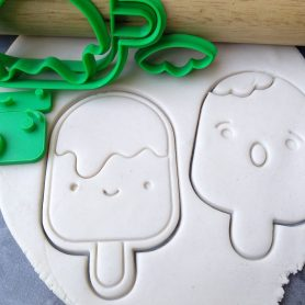 Popsicle / Pop Stick / Icecream Cookie Fondant Stamp Embosser and Cutter