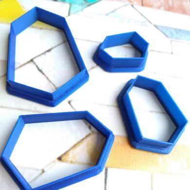 Irregular Hexagon Polymer Clay Cutter