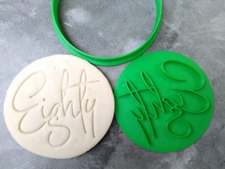 Eighty 80th Birthday Cookie Fondant Stamp & Cutters