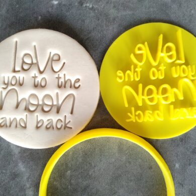 Love you to the Moon and Back (Style 2) Cookie Fondant Stamp and Cutter