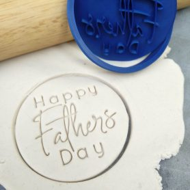 Happy Fathers Day (Style 2) Cookie Fondant Stamp Embosser and Cutter