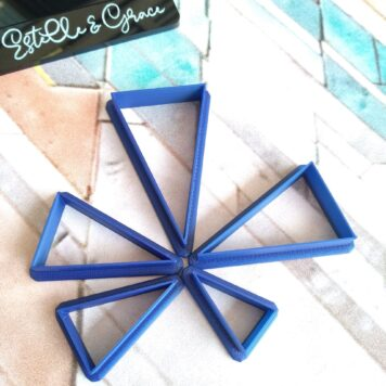 sharp triangles polymer clay cutters