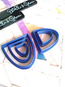 half ovals polymer clay cutters