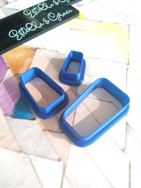 Skinny Irregular Rectangle Polymer Clay Cutters