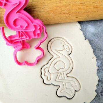 Flamingo Cookie Cutter and Cookie Fondant Stamp Embosser