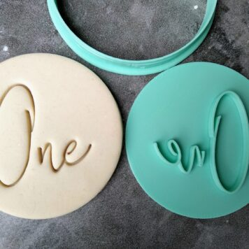 One 1st Birthday Cookie Fondant Stamp & Cutter