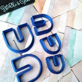 Set of 5 U Shaed Polymer Clay Cutters