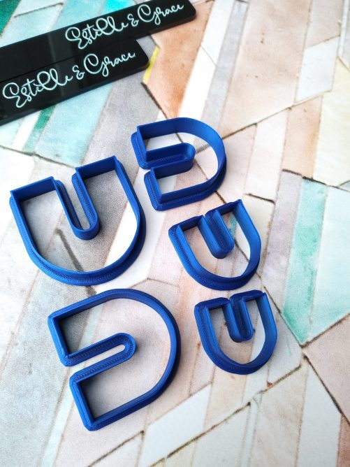 Set of 5 U Shaed Polymer Clay Cutters
