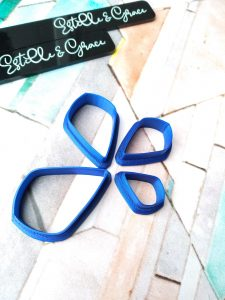 Set of 4 Rounded Kite Shaped Polymer Clay Cutters