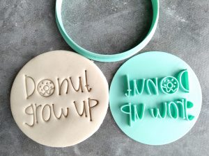 Donut Grow Up Cookie Fondant Stamp Embosser and Cutter