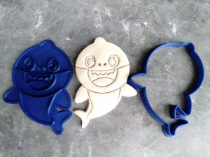 Baby Shark Cookie Cutter and Fondant Embosser Stamp