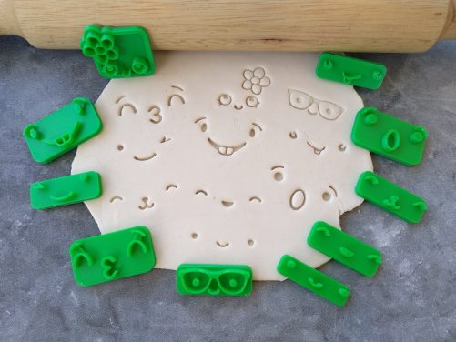 Set of 10 Cute Facial Expressions for Cookie Fondant / Cookie Stamp