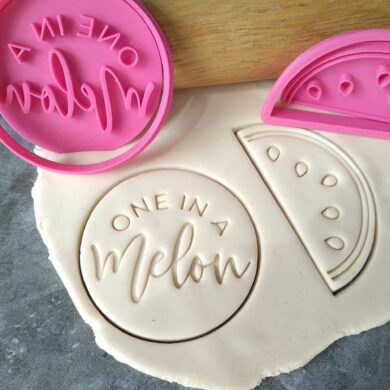 One in a Melon Cookie Fondant Stamp Embosser and Watermelon Cookie Cutter