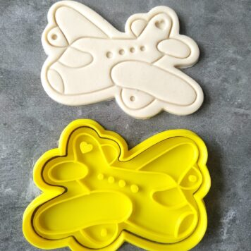 Cute Plane / Airplane Cookie Cutter / 747 Plane Fondant Stamp Embosser and Cookie Cutter