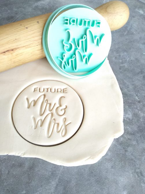 Future Mr and Mrs Cookie Fondant Stamp Embosser and Cutter - Engagement Party