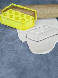 Brick inspired by Lego Cookie Cutter and Fondant Stamp Embosser - Lego Brick Cookie Cutter
