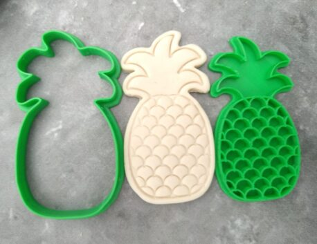 Pineapple Cookie Cutter and Fondant Stamp Embosser