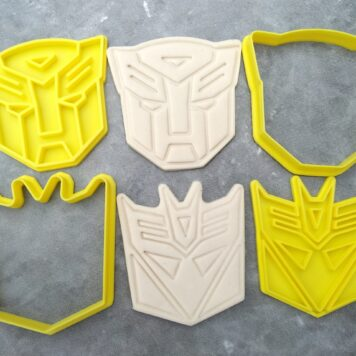 Transformers - Autobot and Decepticon Robot Cookie Cutter and Fondant Stamp Embossers