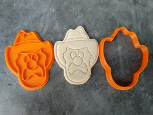 Bubble O' Bill Icecream Cookie Cutter and Fondant Stamp Embosser Cowboy