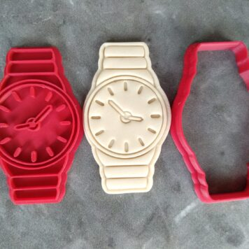 Wrist Watch Cookie Cutter and Fondant Stamp Embosser