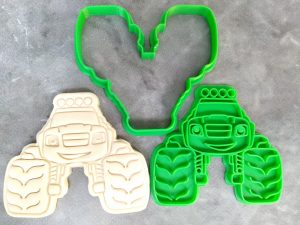 Monster Truck Cookie Cutter and Fondant Stamp Embosser