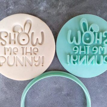 Show me the Bunny Cookie Fondant Embosser Stamp and Cutter - Easter