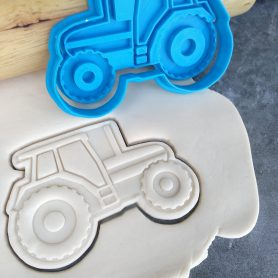 Tractor Cookie Cutter and Fondant Stamp Embosser - Farm theme