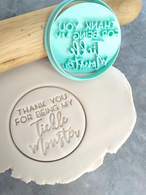 Thank you for being my Tickle Monster Cookie Fondant Embosser Stamp and Cutter – Fathers Day
