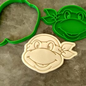 Teenage Mutant Ninja Turtles face Cookie Cutter and Fondant Stamp Embosser
