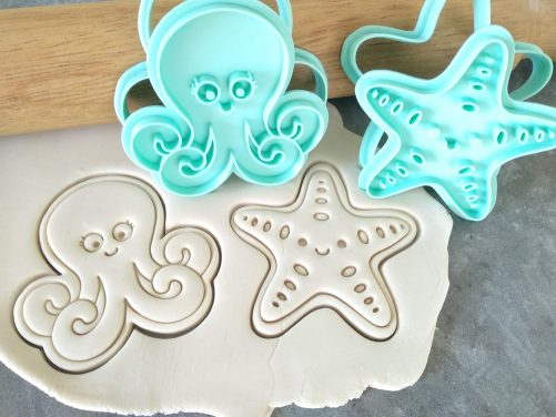 Octopus & Starfish Cookie Cutter and Fondant Stamp Embosser