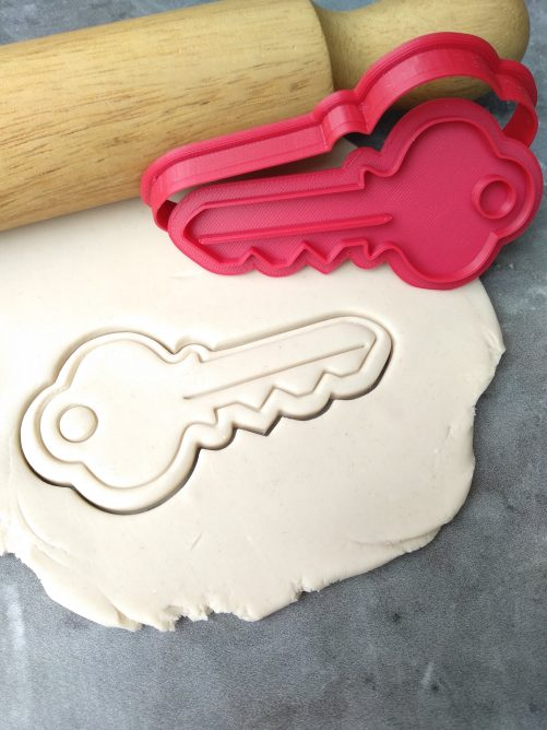 House Key Cookie Cutter and Fondant Stamp Embosser Housewarming Biscuits Home Sweet Home