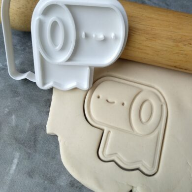Toilet Roll Toilet Paper Cookie Cutter and Fondant Stamp Embosser