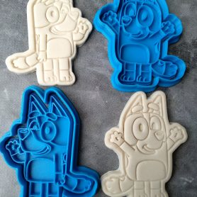 Bluey & Bingo Cookie Cutter and Fondant Stamp Embosser Bluey TV Show ABC Kids