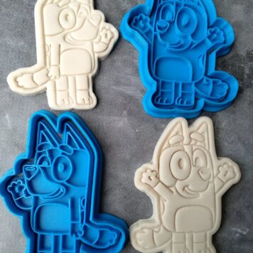Bluey & Bingo Cookie Cutter and Fondant Stamp Embosser Bluey TV Show ABC Kids