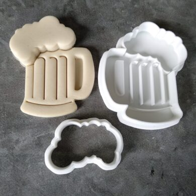 Frothy Beer Glass Cookie Cutter and Fondant Stamp Embosser Set Beer Pint