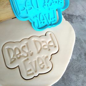 Best Dad Ever Cookie Cutter and Fondant Stamp Embosser Fathers Day
