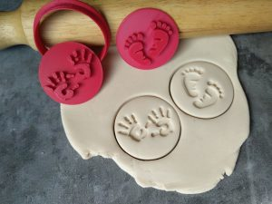 Baby Feet & Hands Cookie Embosser Stamps & Cookie Cutter